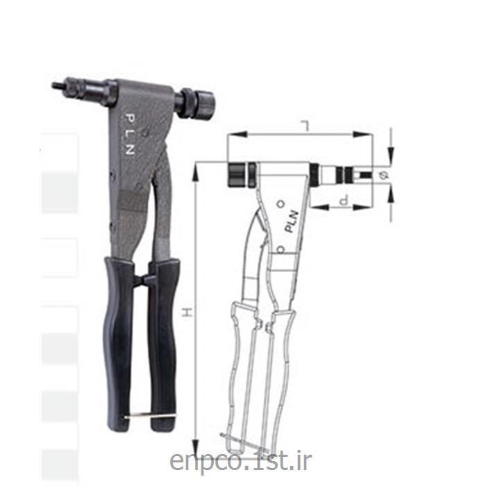 ابزار جایگذاری مهره پرچی دستی پی ال ان هلندی PLN سایز M3-M5