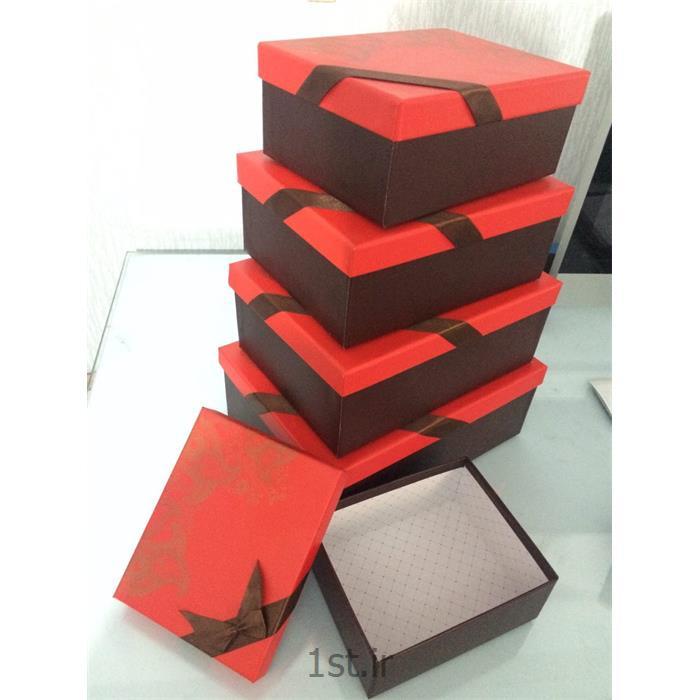 عکس انبار محصولات بسته بندیجعبه کادویی پنج تکه هاردباکس فانتزی مخصوص هدیه مستطیلی