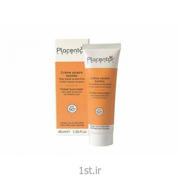 کرم ضد آفتاب رنگی SPF 50 پلاسنتور وژتال