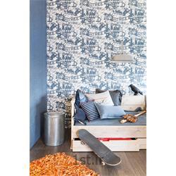 عکس کاغذ دیواری و دیوار پوشکاغذ دیواری مدرن اتاق نوجوان پسرانه lef