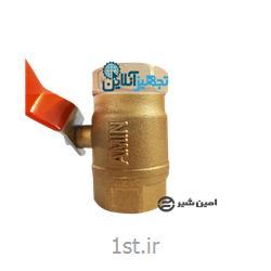 شیر گازی توپی دسته اهرمی برنجی امین سایز 3/4 اینچ