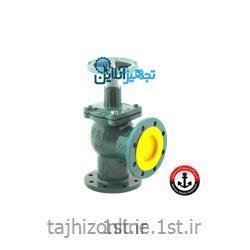 شیر فلکه چدنی ۹۰ درجه سوزنی بخار سایز ۲۱/۲ اینچ وگ امید گلستان