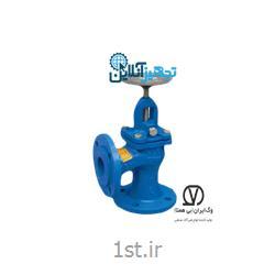 شیر فلکه سوپاپی ۹۰ درجه چدنی PN۱۶ سایز ۱،۱/۲ اینچ وگ ایران بی همتا