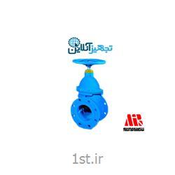 شیر فلکه کشویی چدنی زبانه لاستیکی pn۱۶ opt سایز ۱۰ اینچ میراب