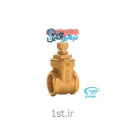 شیر فلکه برنجی کشویی کیز ایران سایز ۳