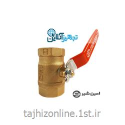 عکس شیر فلکه توپیشیر گازی توپی دسته اهرمی برنجی امین سایز ۲(۶)