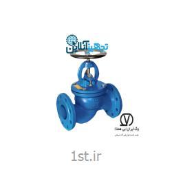 شیر فلکه سوپاپی صاف چدنی PN۱۶ سایز ۱،۱/۲ اینچ وگ ایران بی همتا