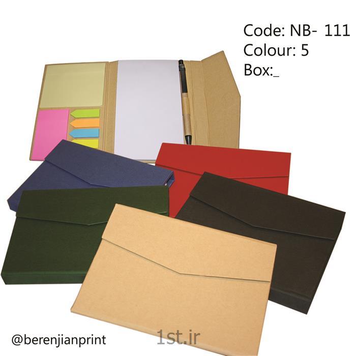 عکس دفتر و دفترچهدفتر یادداشت تبلیغاتی به همراه خودکار مدل NB-111
