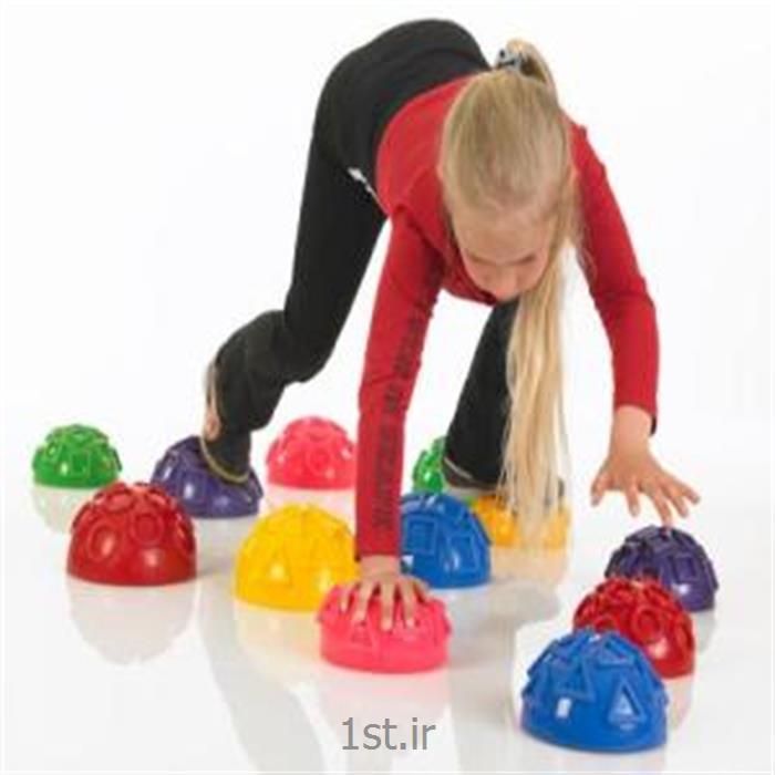 نیم توپ تعادلی با نقش اشکال هندسی _ Geo-Balance hedgehog +XL (مارک TOGU آلمان)