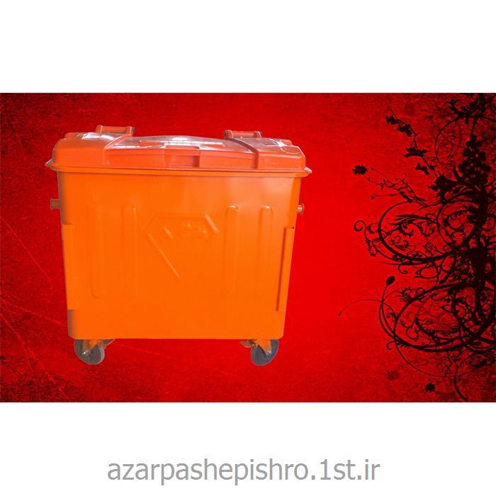 عکس مخزن زباله مخزن زباله شهری 660 ، 770 ، 1100 لیتری مکانیزه با ورق سیاه