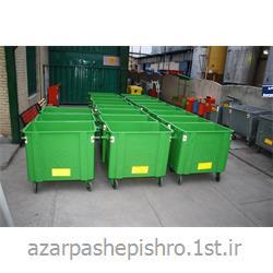 مخزن زباله شهری 660 ، 770 ، 1100 لیتری مکانیزه با ورق سیاه