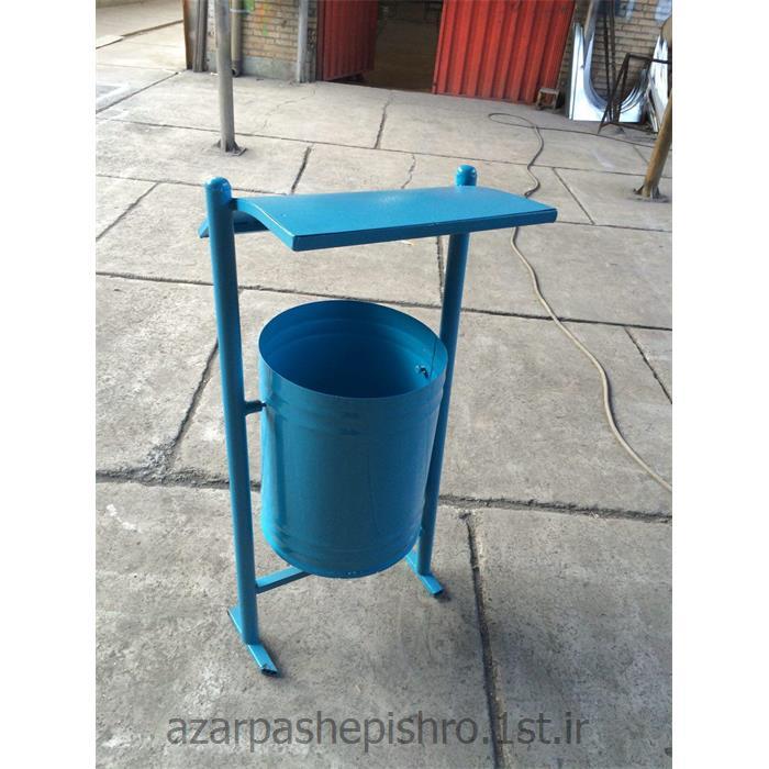سطل یا مخزن زباله ( آشغال ) پارکی پایه دار شهری