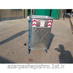 مخزن زباله شهری گالوانیزه 200 لیتری پایه دار و چرخدار