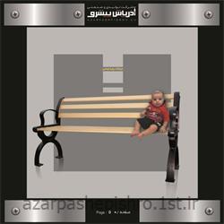 نیمکت و صندلی فلزی پایه چدنی پارکی شهری 2 و 3 نفره
