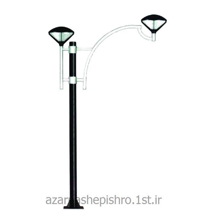 عکس تیر چراغ برقپایه چراغ روشنایی پارکی خیابانی فلزی 1 و 2 متری