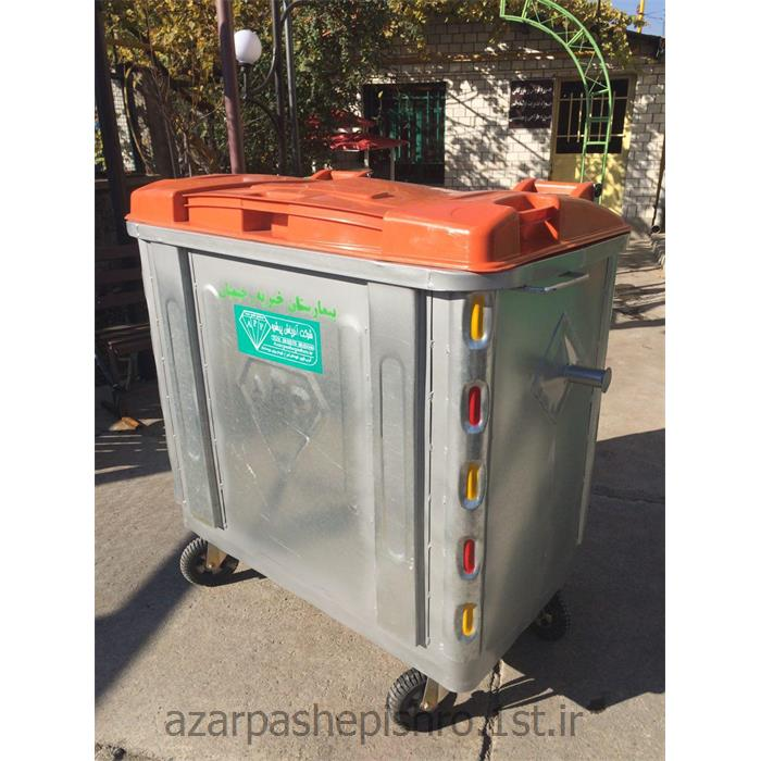 مخزن زباله شهری 770 لیتری گالوانیزه چرخدار