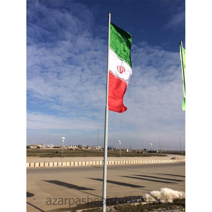 پایه های پرچم فلزی رنگی با قرقره و سیم بکسل دستی به طول 11 و 12 متر