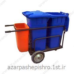 گاری یا ترالی گالوانیزه و پلی اتیلن حمل زباله