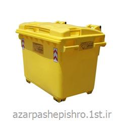 عکس سایر محصولات مرتبط با محیط زیستمخزن 600 لیتری فلزی و پلاستیکی شن و نمک با درب و بی چرخ
