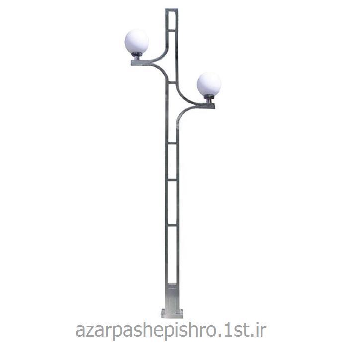 پایه چراغ روشنایی گالوانیزه گرد پارکی به طول 5 و 6 متر