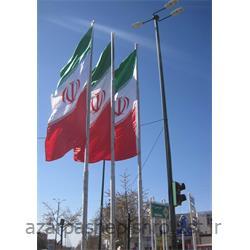 عکس سایر محصولات آهنمیله پرچم آهنی با قرقره و سیم بکسل دستی در ارتفاع های 5 و 6 متری