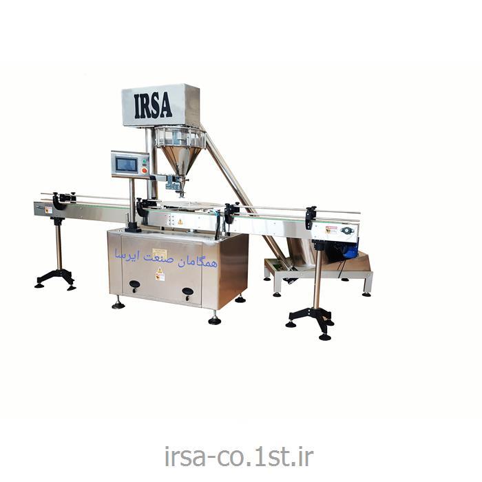 عکس ماشین آلات بسته بندیدستگاه بسته بندی قوطی پرکن پودری تمام اتوماتیک مدل HM-18p
