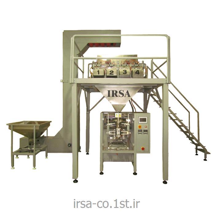 دستگاه بسته بندی سبزیجات و میوه جات خشک چهار توزین مدل HM-404P همگامان صنعت ایرسا
