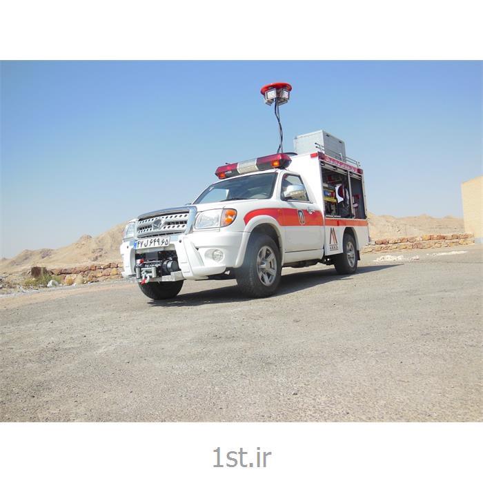 عکس ماشین آتش نشانیخودرو کاپرا تک کابین پیکاپ امداد و نجات