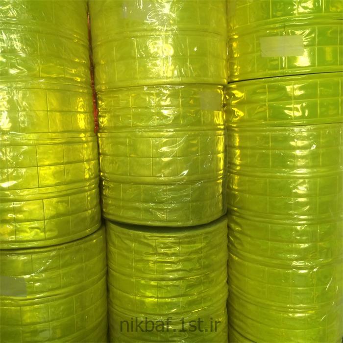 عکس سایر پارچه هاشبرنگ روزرنگ سبز فسفری پی وی سی PVC