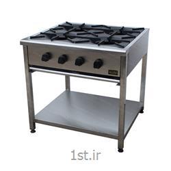 عکس سایر ماشین آلات تولید مواد غذاییاجاق گاز 4 شعله رستورانی - گارد استیل