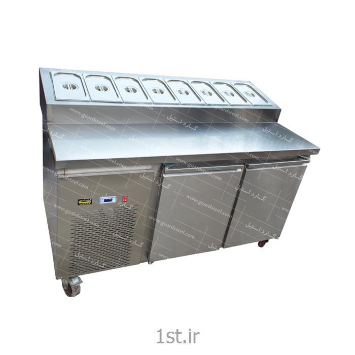 عکس سایر ماشین آلات تولید مواد غذاییتاپینگ پیتزا و ساندویچ ( 8 لگن ) - گارد استیل