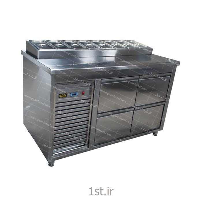 عکس سایر ماشین آلات تولید مواد غذاییتاپینگ پیتزا و ساندویچ ( کشودار ) - گارد استیل