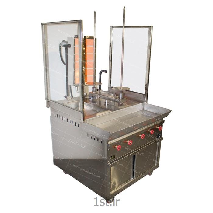 عکس سایر ماشین آلات تولید مواد غذاییدستگاه کباب ترکی ایستاده - گارد استیل