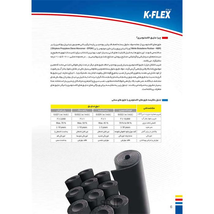 عایق فوم الاستومری K-FLEX<