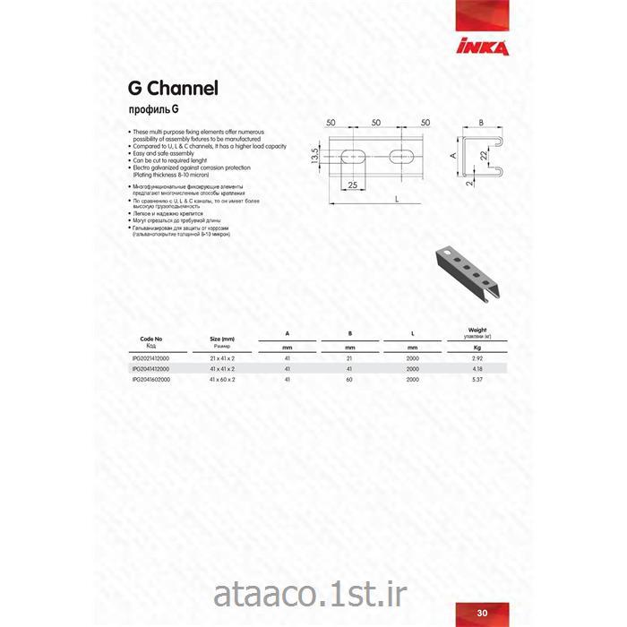 پروفیل ساپورت فولاد اینکا 41*41