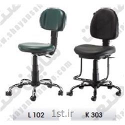 صندلی آزمایشگاهی رکابدار سری F