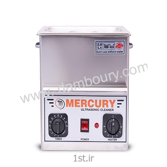 عکس سایر دستگاه های پرداخت فلزاتدستگاه التراسونیک 2/8 لیتر MERCURY
