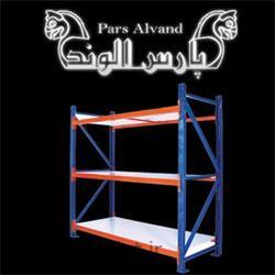 عکس قفسه های فروشگاهیقفسه بندی انبار پارس الوند کیان مهر