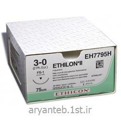 نخ جراحی اتیلون (نخ تک رشته ای از جنس پلی آمید 6 یا 6.6)