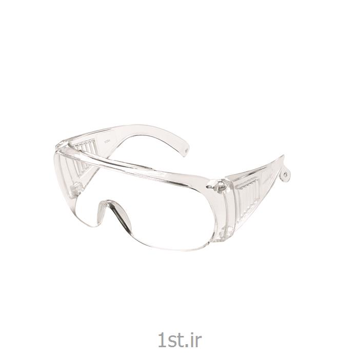عکس عینک ایمنیعینک ایمنی کار سفید P.O.SAFETY مدل Y20C
