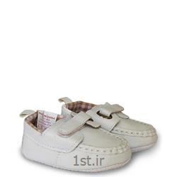 عکس کفش بچهکفش کالج پسرانه سفید Mothercare