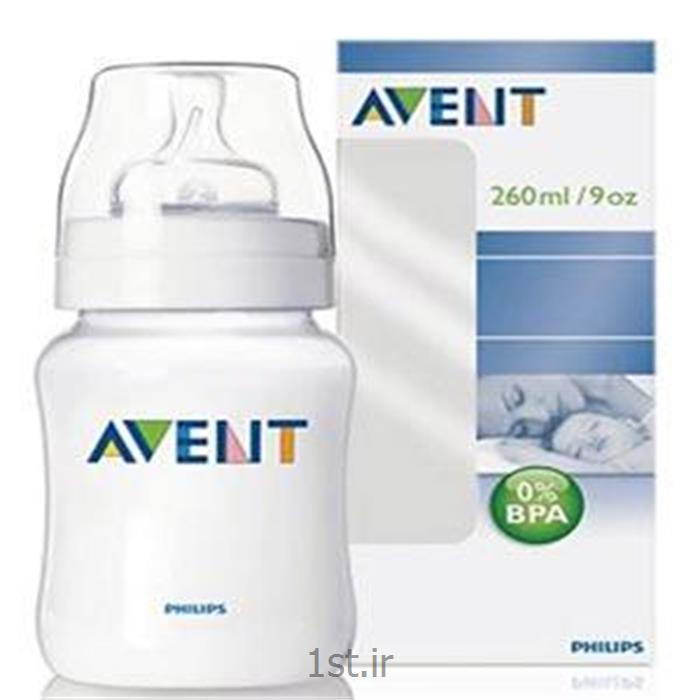 عکس سایر لوازم و محصولات کودکشیشه شیر 260میل معمولی فیلیپس