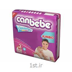 عکس پوشکپوشک نوزاد جان ب ب 3تا6 کیلوگرم (سایز2) Canbebe