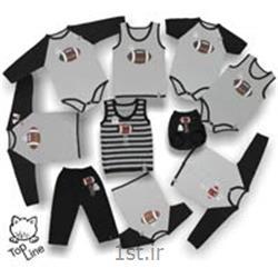 عکس ست لباس نوزادلباس نوزادی پسرانه راگبی تاپ لاین (جدید)