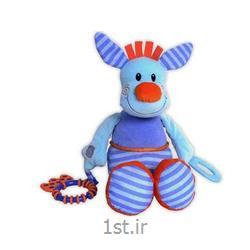 عکس عروسکنخکش موزیکال کانگورو آبی جولی بی بی Jollybaby