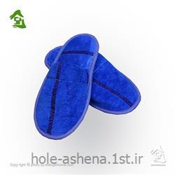 دمپایی حمام برق لامع رنگ آبی