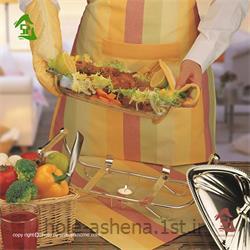 عکس مجموعه ( ست ) لوازم آشپزینیم ست آشپزخانه زین تاژ طرح رابید صورتی  8 تیکه