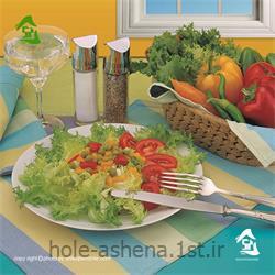 عکس مجموعه ( ست ) لوازم آشپزینیم ست آشپزخانه زین تاژ طرح رابید آبی 8 تیکه