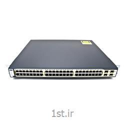 سوئیچ شبکه 48 پورت   WS-C3750G-48PS-Sسیسکو ( switch 48 port cisco )