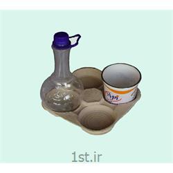 عکس سینی بسته بندیسینی زیر شیرینگ لبنیات کاغذی یا سلولزی سفید white paper dairy tray